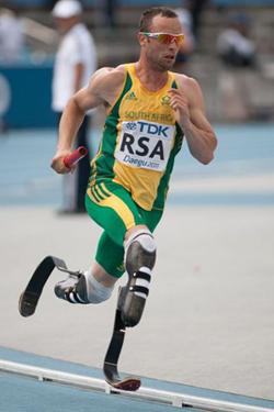 Oscar Pistorius er født uden underben og deltog alligevel i de olympiske lege i 400 meter løb