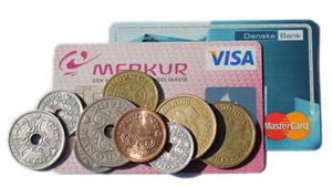 Kontanter, kreditkort eller debetkort?